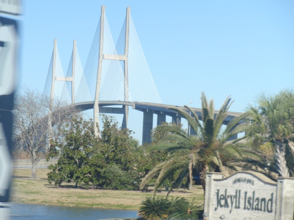 A view from the car while heading to Jekyll Island.